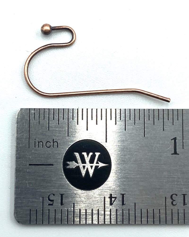 ANTIQUE COPPER French Earwire with 2mm Ball
