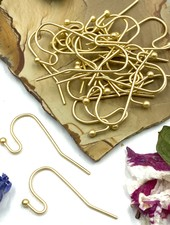 SATIN GOLD French Earwire with 2mm Ball