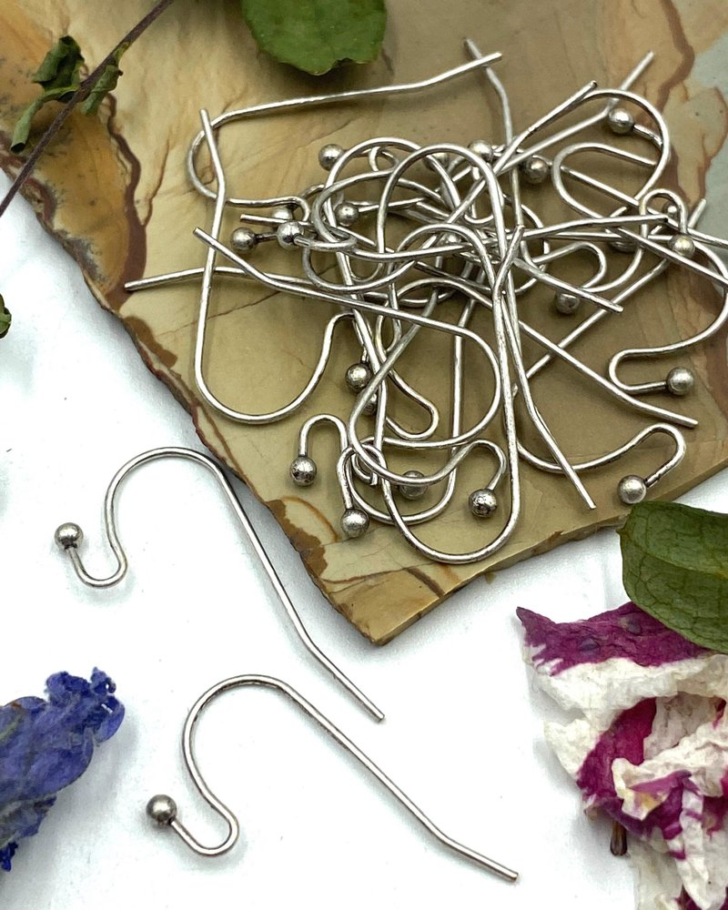 ANTIQUE SILVER French Earwire with 2mm Ball