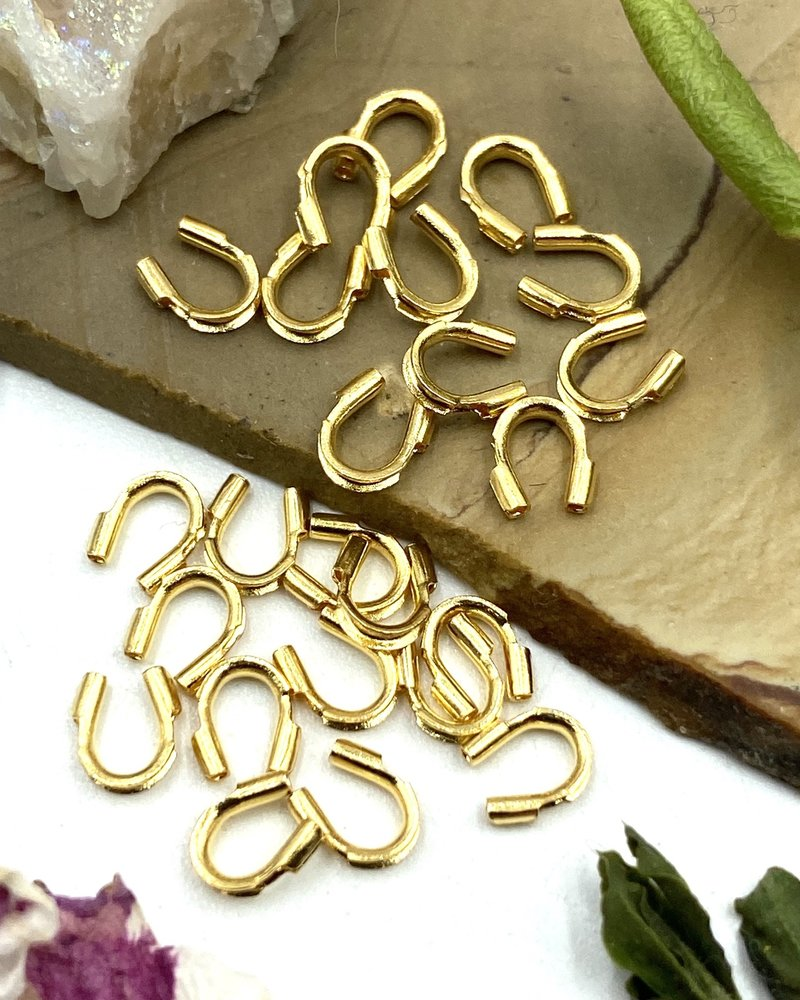 WIRE PROTECTORS:  GOLD- 24PC
