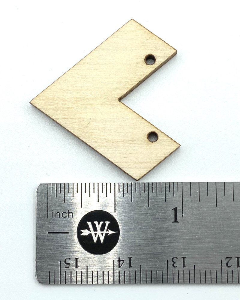 Wood Shapes: Small Chevron Pair