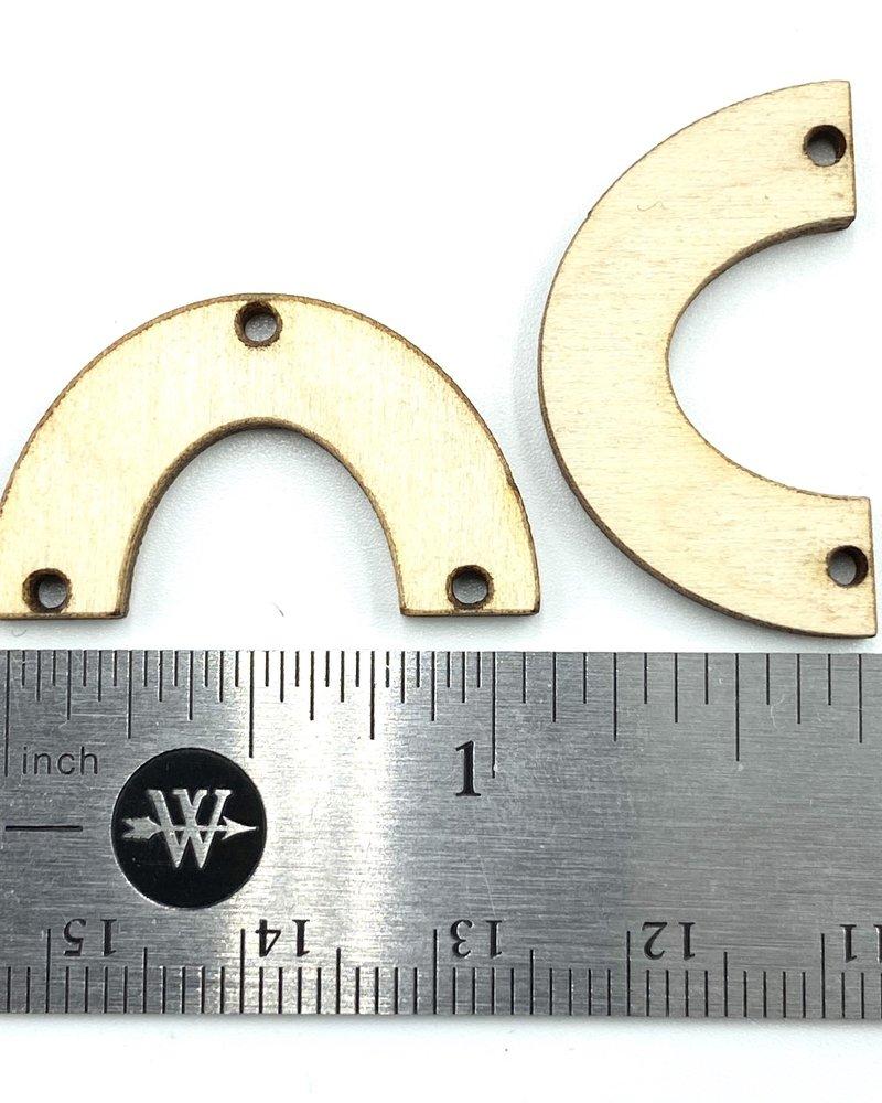 Wood Shapes: Small Horseshoe Pair