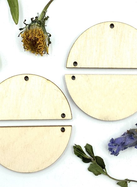 Wood Shapes: Medium Half Circle Pair