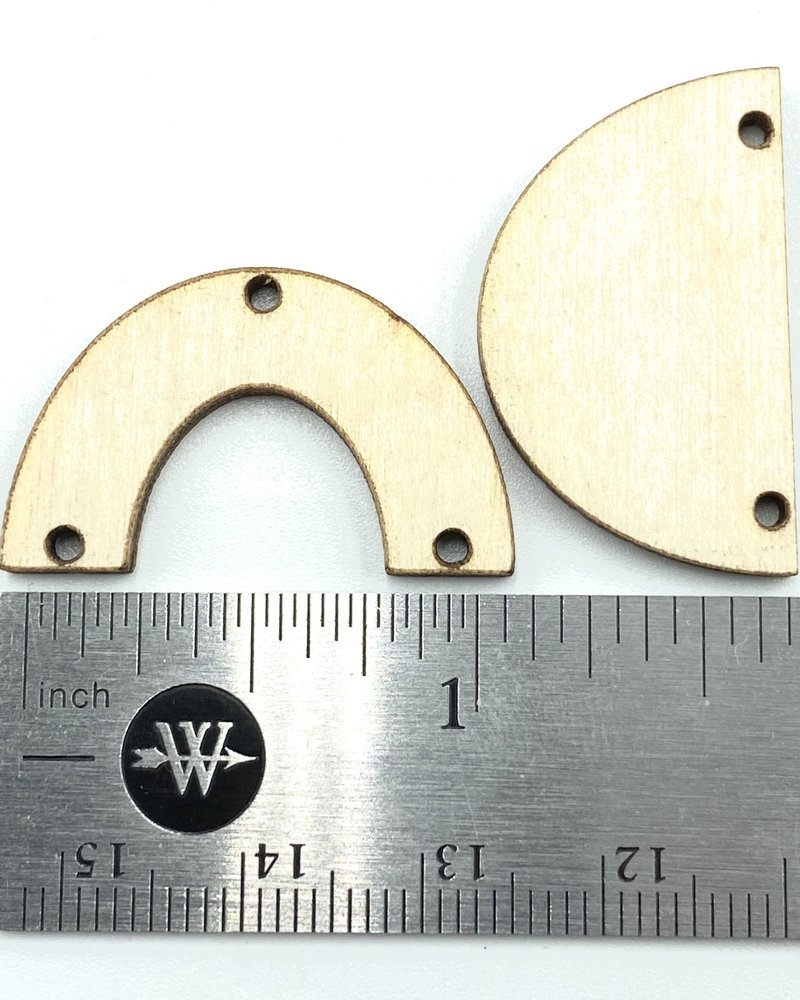 Wood Shapes: Small Half Circle Horseshoe Pair