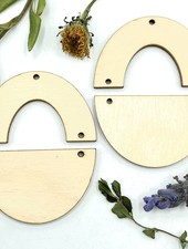 Wood Shapes: Large Half Circle Horseshoe Pair