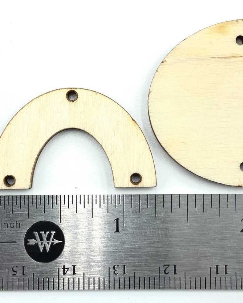 Wood Shapes: Medium Half Circle Horseshoe Pairs