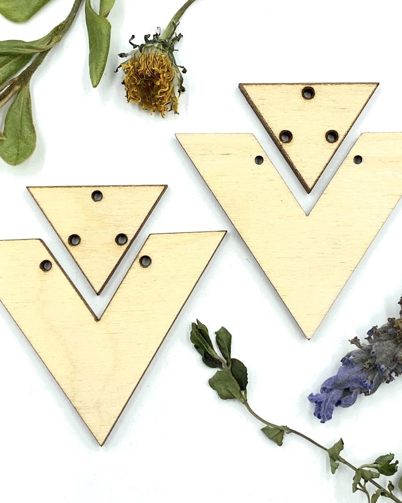 Wood Shapes: Triangle Duo Pair