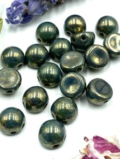 CzechMates Cabochon 7mm Persian Turquoise - Bronze Picasso