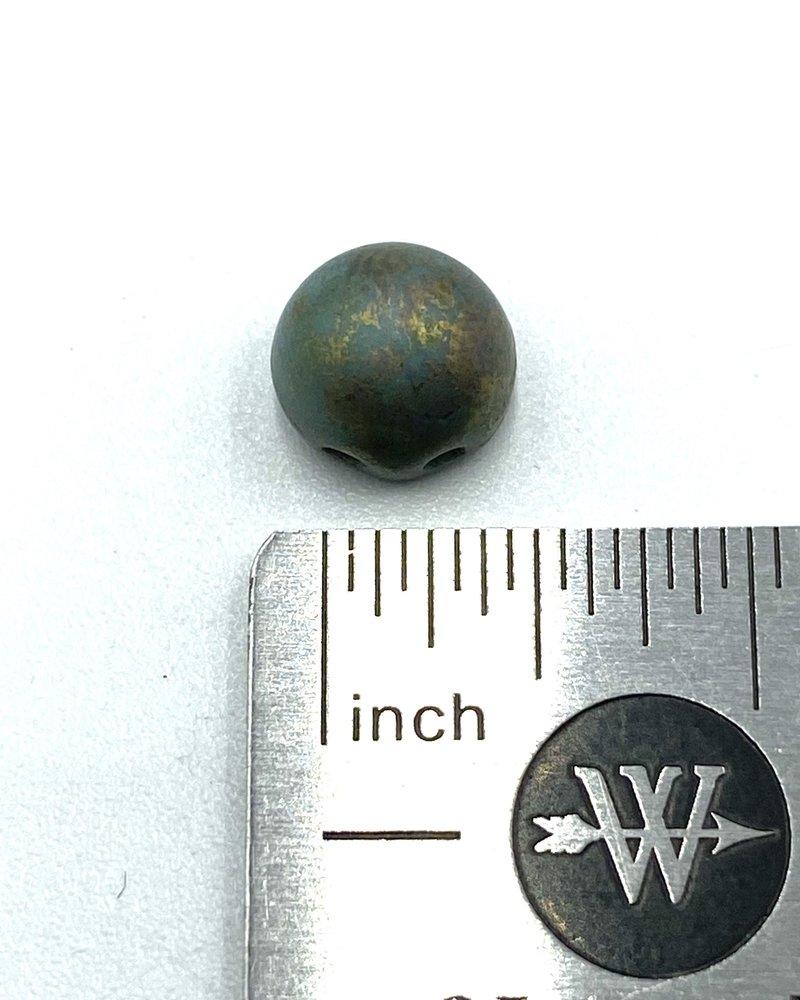 CzechMates Cabochon 7mm Turquoise - Copper Picasso