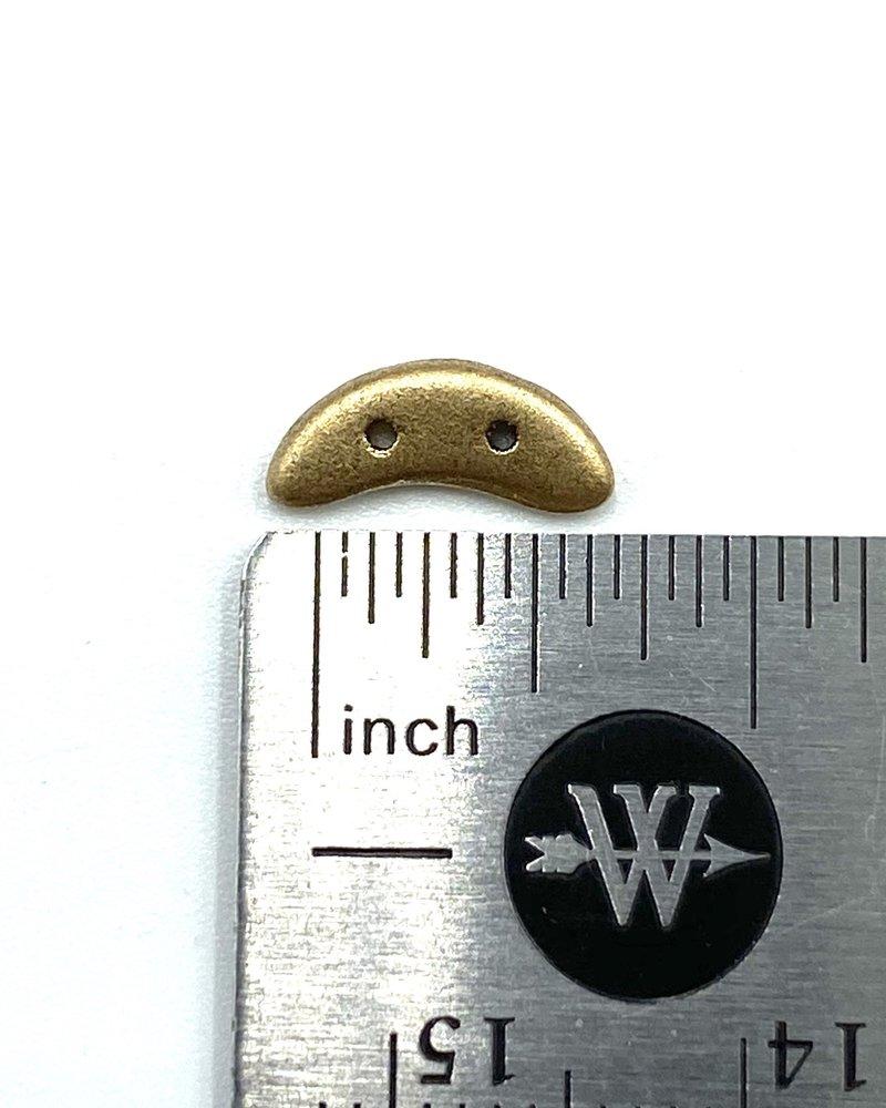 50pc. CzechMates Crescent 3/10mm : Matte - Metallic Flax