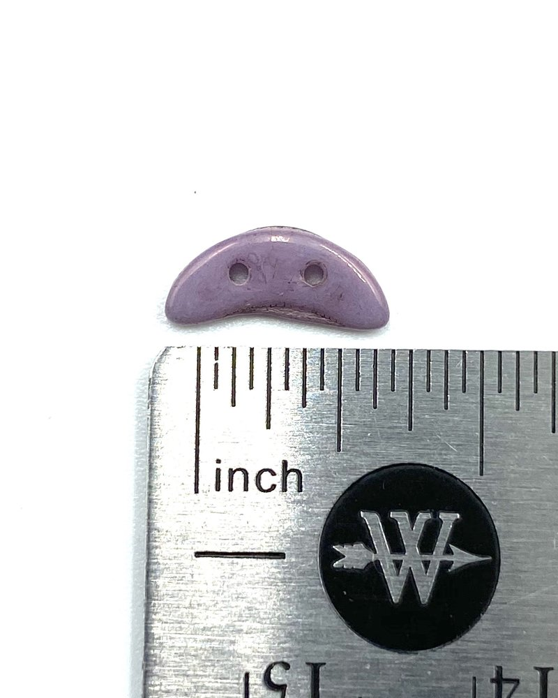 50pc. CzechMates Crescent 3/10mm : Luster - Opaque Lilac