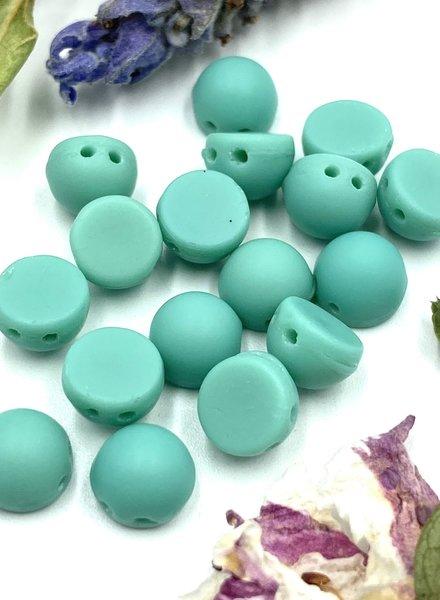 CzechMates Cabochon 7mm : Matte - Turquoise