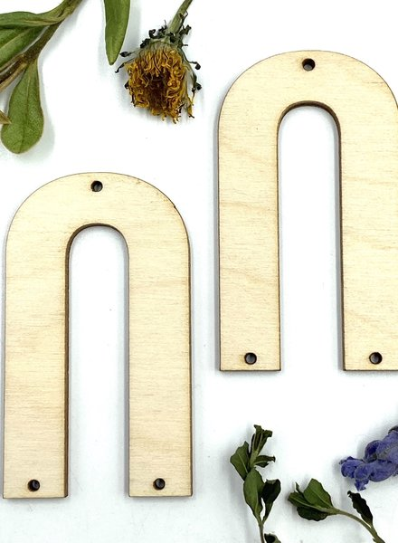Wood Shapes: Large U-Shaped Pair