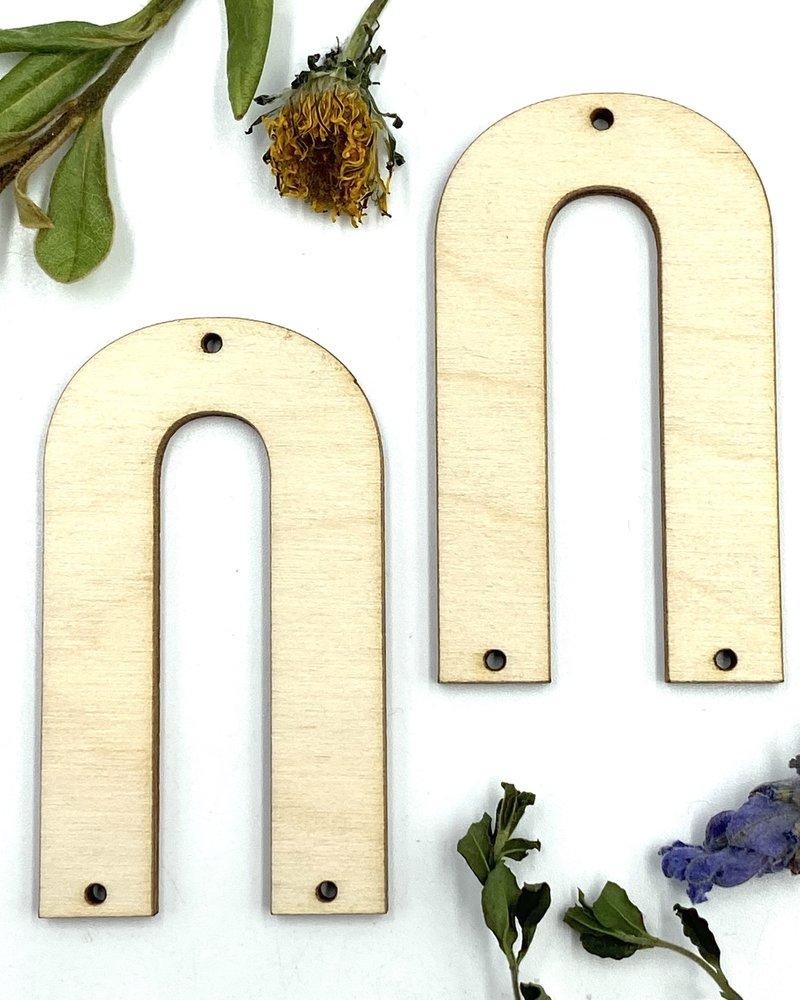 Wood Shapes: Large U-Shaped Pair