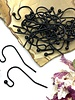MATTE BLACK French Earwire with 2mm Ball