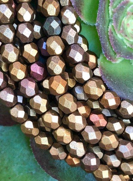 Firepolish 4mm : Matte - Metallic Gold Iris