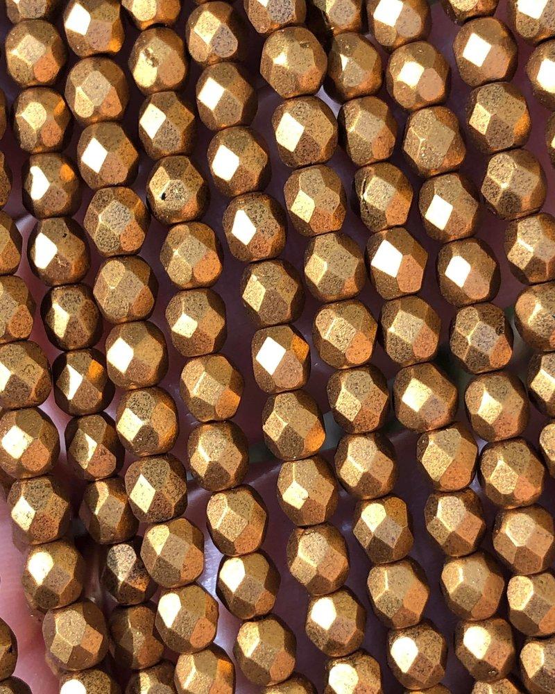 Firepolish 4mm : Matte - Metallic Goldenrod