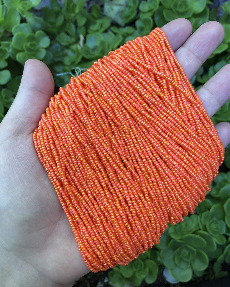 SIZE 11/0 #627 Dark Orange Rainbow