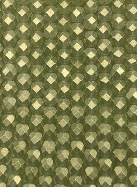 Fire-Polish 6mm : Sueded Gold Olivine