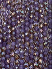Fire-Polish 4mm : Milky Amethyst - Celsian