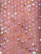 Fire-Polish 4mm : Sueded Gold Milky Pink