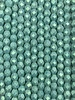 Fire-Polish 4mm : Sueded Olive Turquoise
