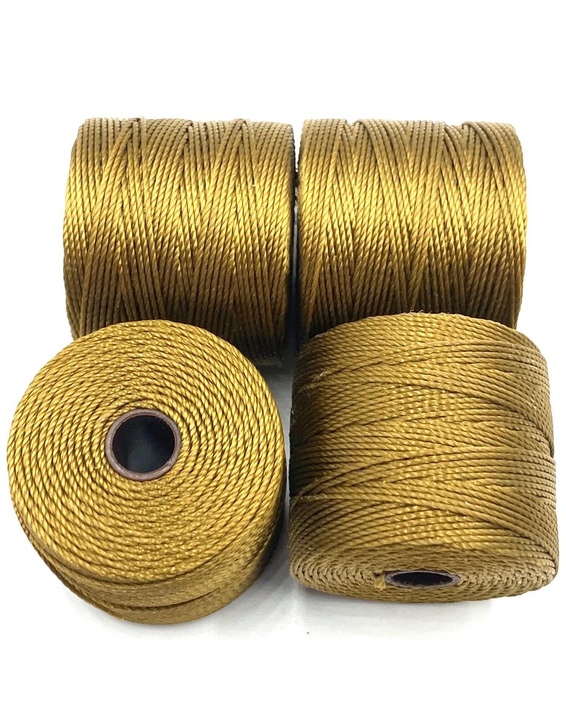 S-LON BEAD CORD GOLDEN OLIVE 77YD