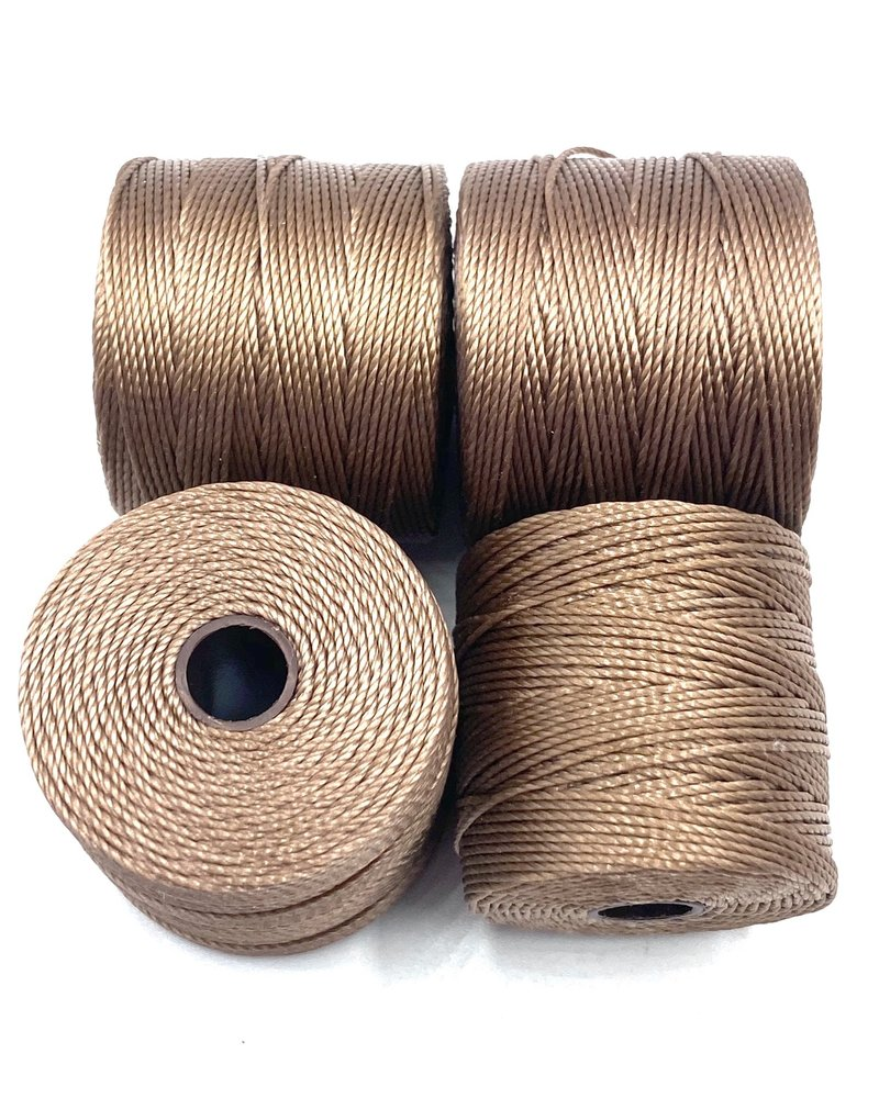 S-LON BEAD CORD MEDIUM BROWN 77YD