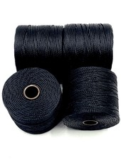 S-LON BEAD CORD MEDIUM BLACK 77YD