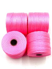 S-LON BEAD CORD 210 77YD NEON PINK