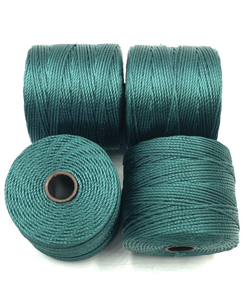 S-LON BEAD CORD GREEN BLUE 77YD