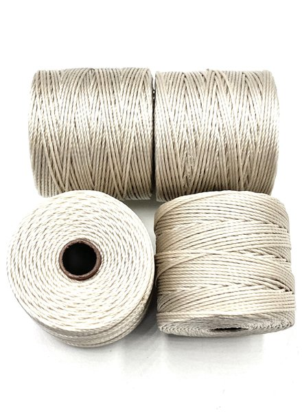 S-LON BEAD CORD: OYSTER 77YD