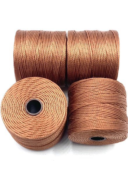 S-LON BEAD CORD NUTMEG COPPER 77YD