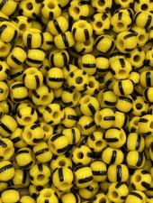6/0 #523 Yellow Black Stripe