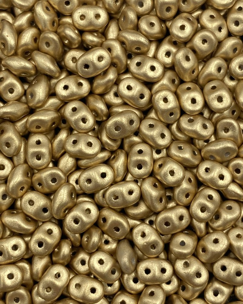 SuperDuo: Matte Metalic Flax