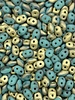 SuperDuo 5 x 2mm : Fool's Gold - Turquoise