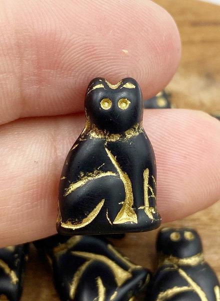 20mm Jet Gold Cat