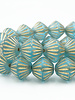 11mm Bicone Beads: Aqua Blue