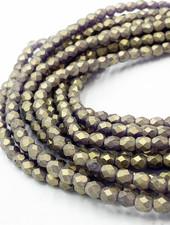 Firepolish 4mm: Sueded Gold Tanzanite