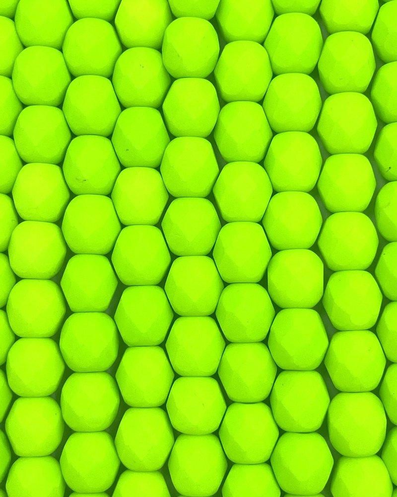 Firepolish 6mm : Neon - Electric Lime