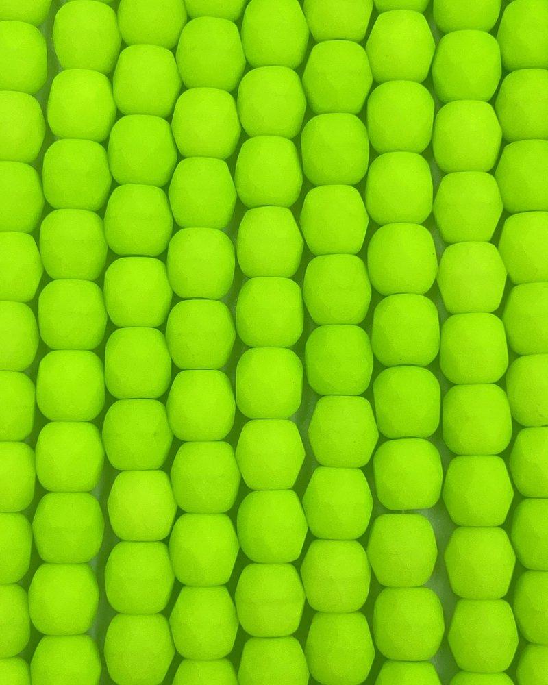 Firepolish 4mm : Neon Lime Green