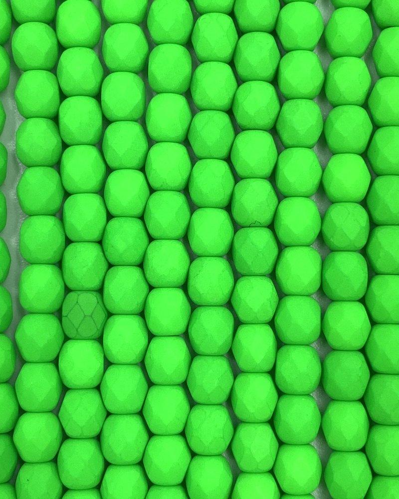 Firepolish 4mm : Neon Green