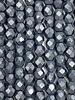 Firepolish 4mm : Matte Hematite