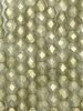 Firepolish 4mm: Sueded Gold Black Diamond