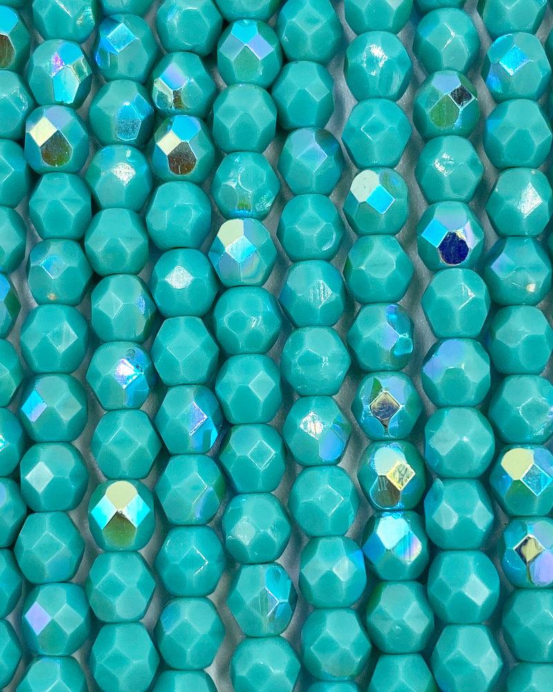 Fire-Polish 4mm : Turquoise AB