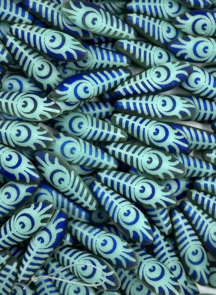 Dagger 16 x 5mm : PEACOCK EYE MATTE BLUE GREEN