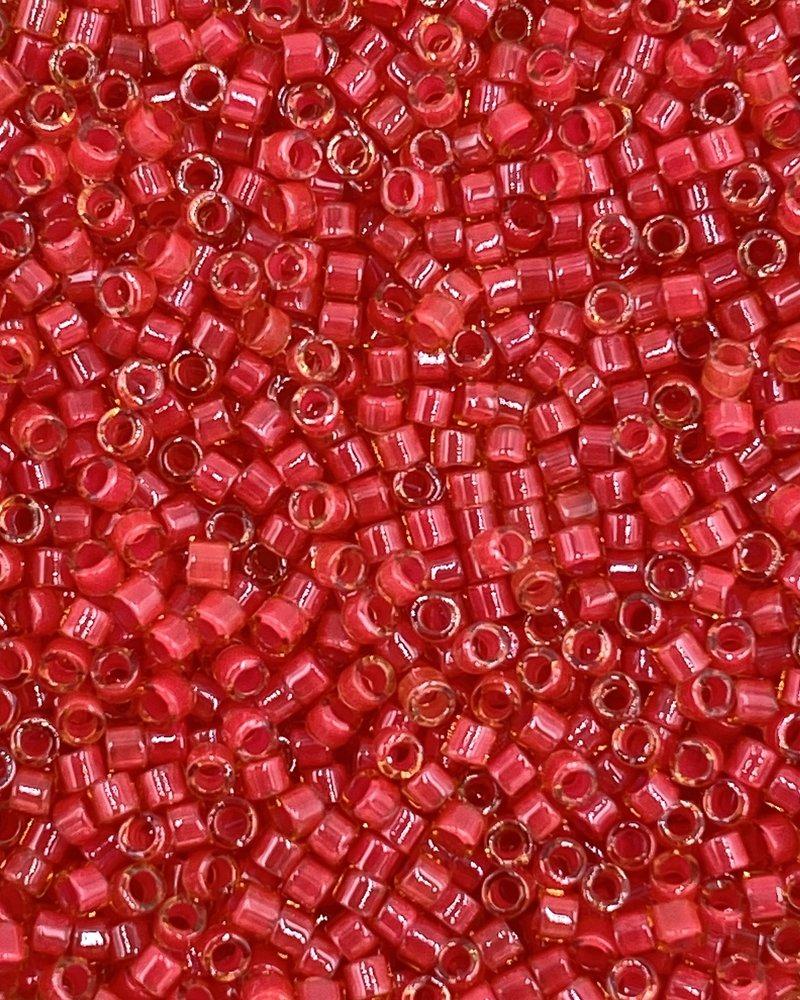 11/0 DELICA LUMINOUS POPPY RED