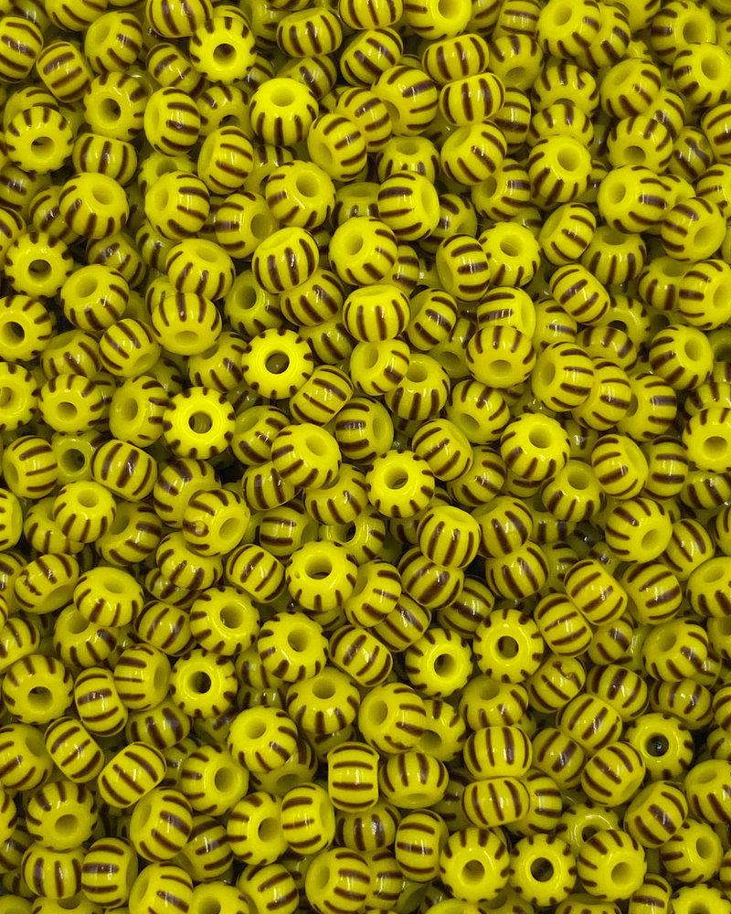SIZE 8/0 #517 Yellow/Brown Multi Stripe