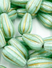 8x15mm Melon Drop Mint Gold Wash