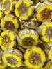12mm Hibiscus Flower Dandelion Picasso/Coral Wash